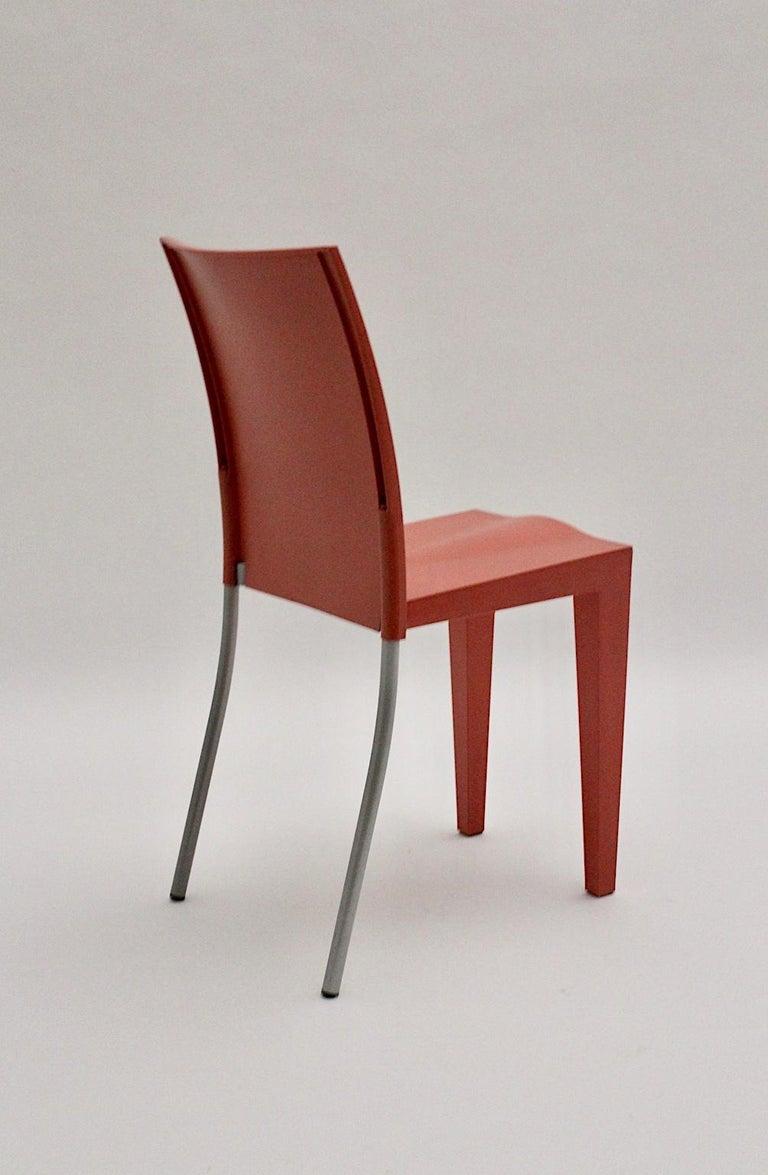 Steel Pop Art Pink Vintage Side Chair/Chair Miss Global Phillipe Starck 1980s Kartell For Sale