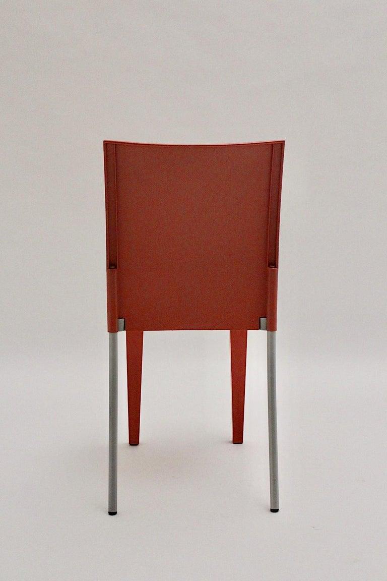 Pop Art Pink Vintage Side Chair/Chair Miss Global Phillipe Starck 1980s Kartell For Sale 1