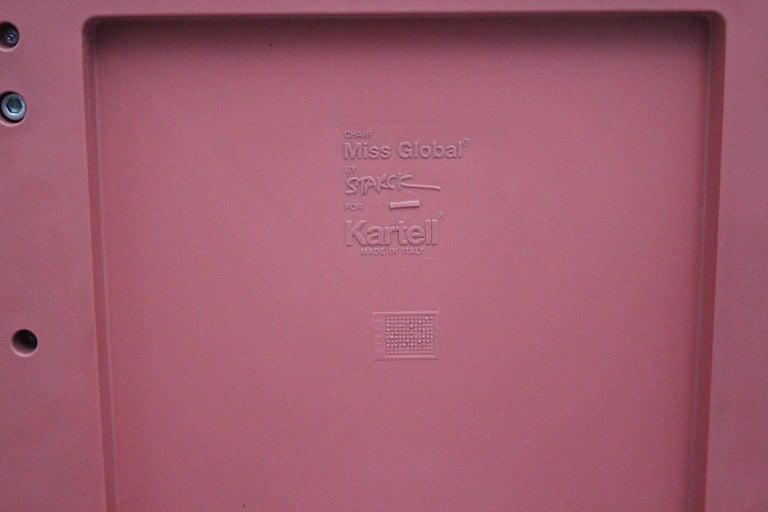 Pop Art Pink Vintage Side Chair/Chair Miss Global Phillipe Starck 1980s Kartell For Sale 2