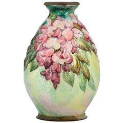 Pink Wisteria Vase by Camille Fauré