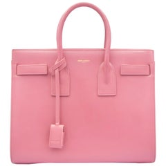 Pink Yves Saint Laurent Smooth Leather Handbag with Removable Leather Strap