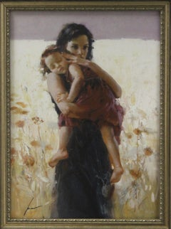 Maternal Instincts-Framed Limited Edition Lithograph, Signed by Artist