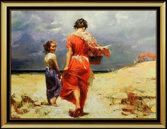 Pino Daeni Giclee on Canvas Summer Retreat Signed Art oil rare