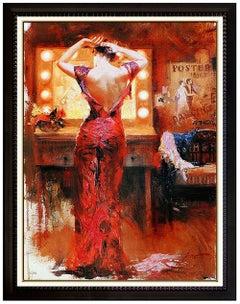 PINO Daeni The Star Giclee on Canvas Signed Female Portrait Art