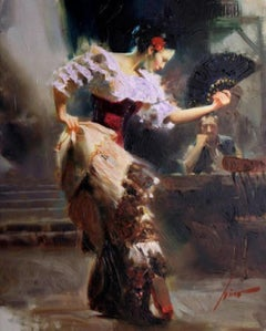 """""""The Dancer"""" Signed, Limited-Edition Embellished Giclee on Canvas, 45/50 AP"""