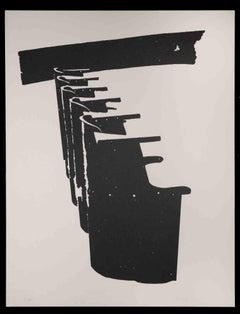 Benches  - Original Lithograph by Pino Reggiani - 1970s