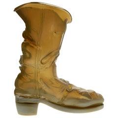 Pino Signoretto, Livio de Marchi Design Pauly, Boot in Chalcedony Opaline Murano