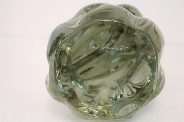 Pino Signoretto Murano Glass Sculpture of Bowed Woman, Made in Italy 1980s For Sale 12