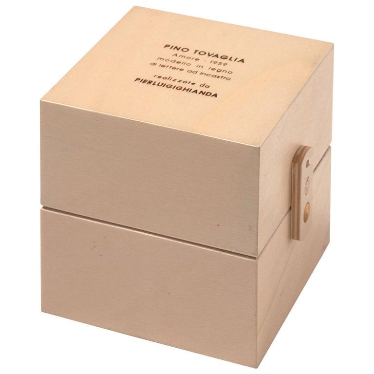 For Sale: Beige (Maplewood) Pino Tovaglia Small Parola Amore Collapsable Wooden Letters for Bottega Ghianda