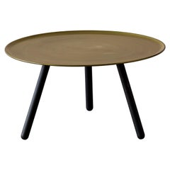 Pinocchio Low Coffee Table in Black Aniline Base, by Giopato & Coombes