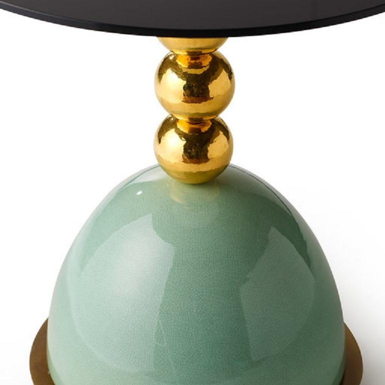 Italian Pins Green Side Table For Sale
