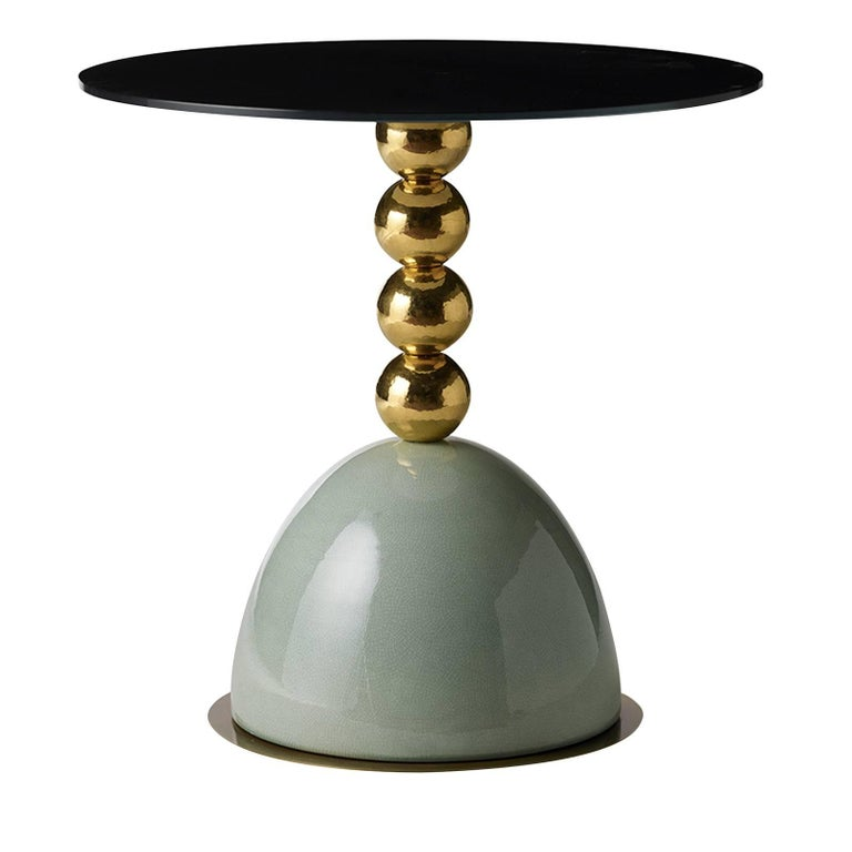 Pins Green Side Table For Sale