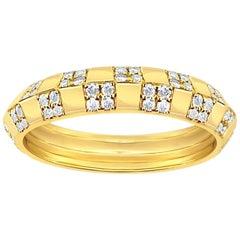 Pinstripe Strength Knife Edge Diamond Ring