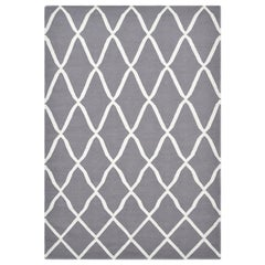 Pinto, Contemporary Flat-Weave Handwoven Area Rug, Lava