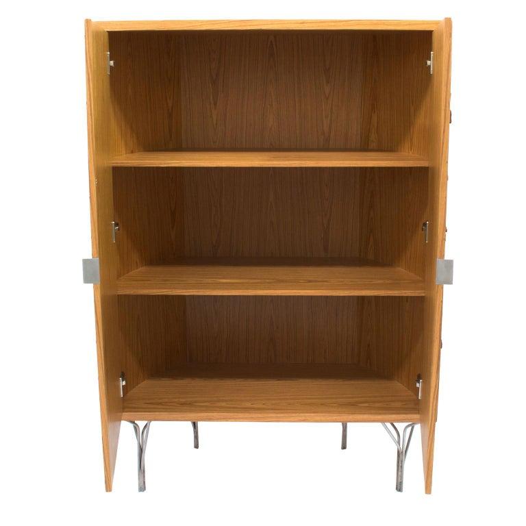 Veneer Pinus Wood Bark Cabinet,