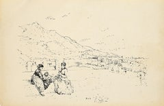 Forio di Ischia - Original Lithograph by Pio Joris - 1870s
