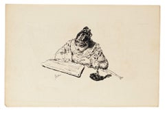 The Reading - Original Lithograph - 1880