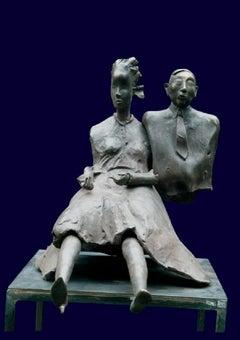 Couple - XXI Century, Bronze, Figurative Sculpture, Man and Woman, Art Academy