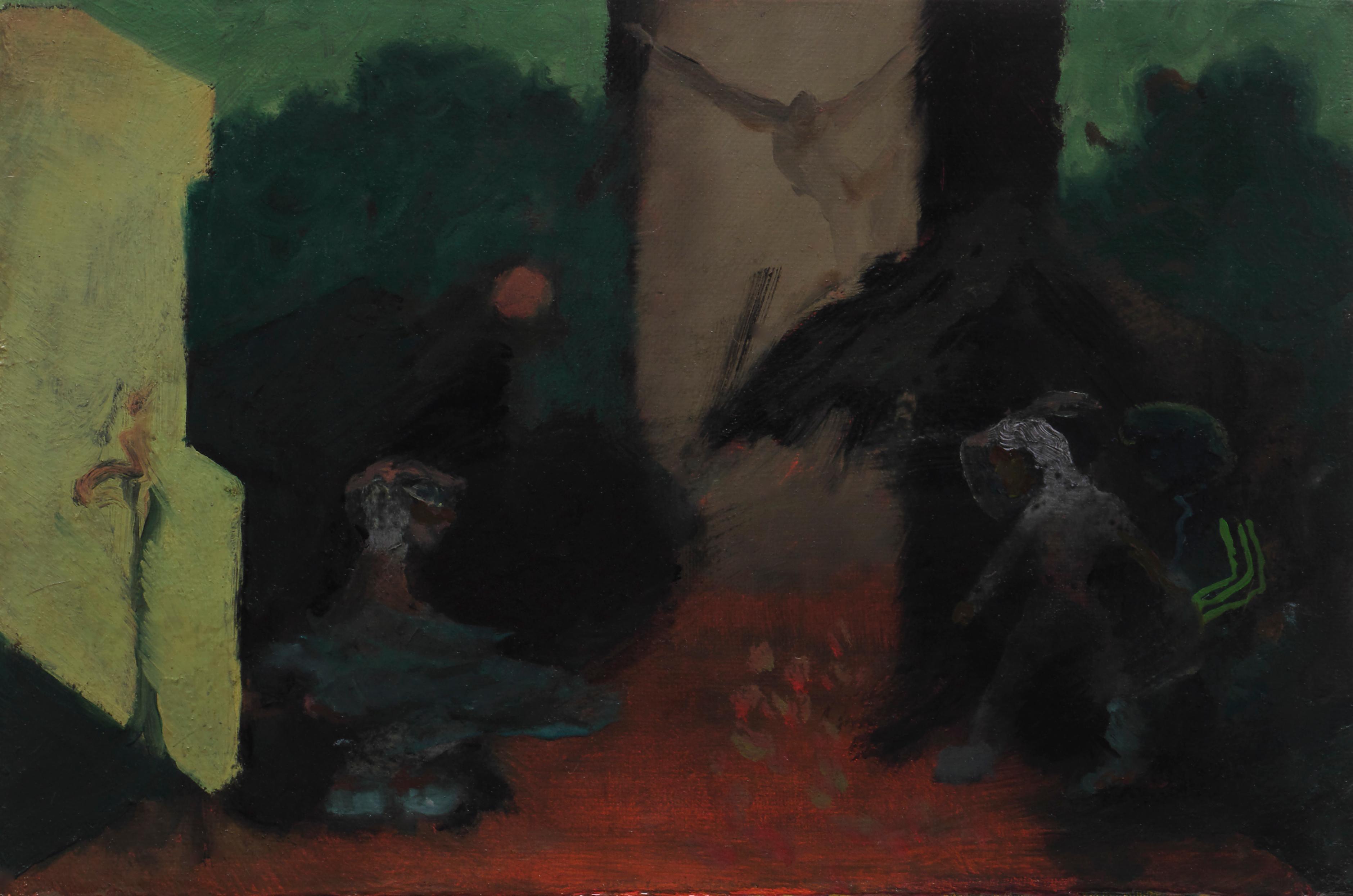 Spieltrieb   -  Modern Figurative Oil Painting, Existentialism Art