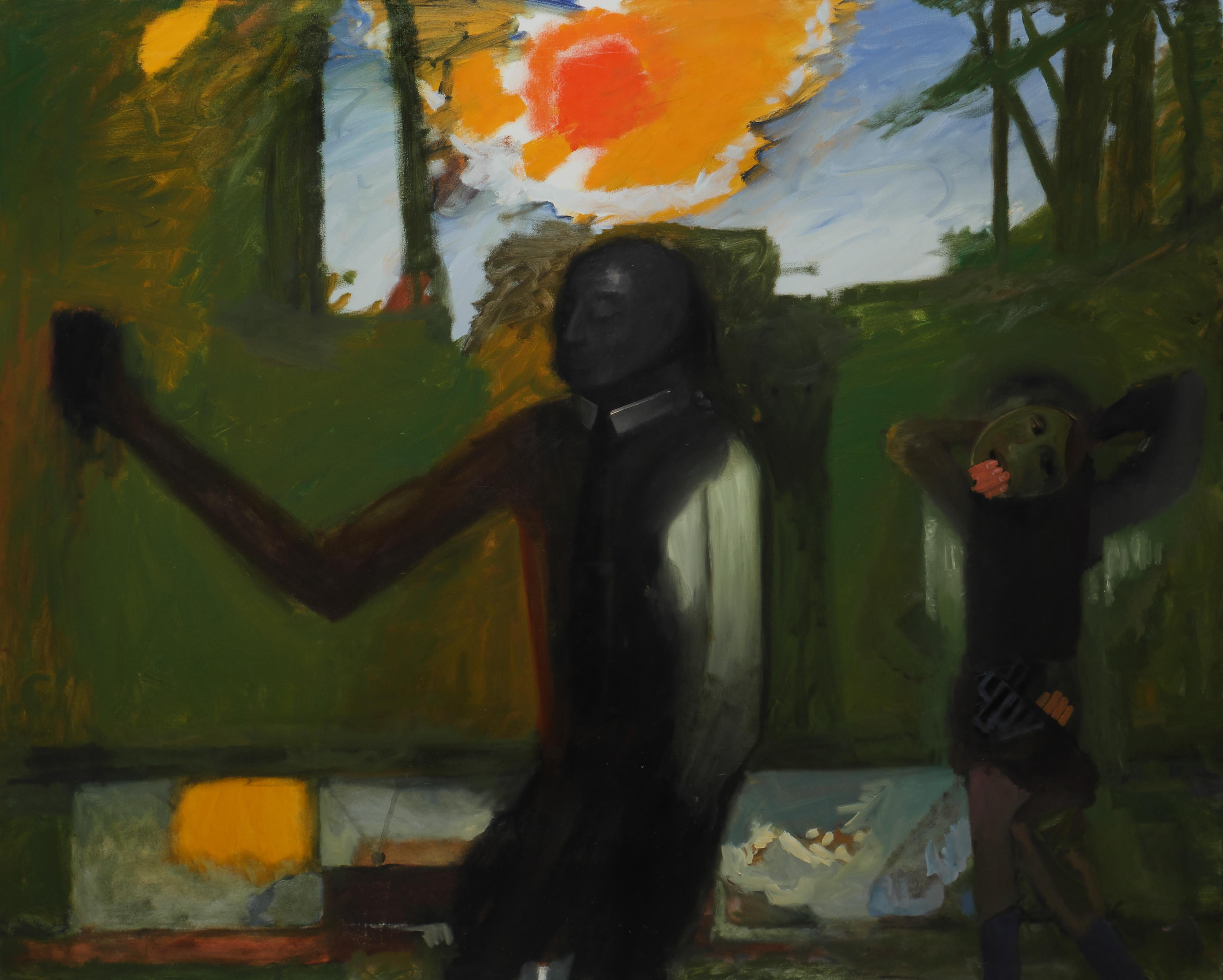 What Happened To Us ? - Large Format Painting, Modern Figurative Oil Painting