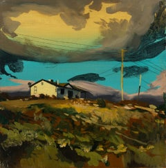 HOLES IN THE CLOUDS -  Expressive, Colourful USA Landscape Oil Painting