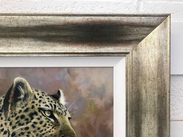 Leopard Portrait - Wild Cat Regal Beast Painting from British Wildlife Artist 4