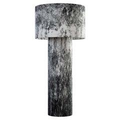 Pipe Medium Floor Lamp in Black Diffuser by Diesel Living