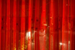 Couple Behind Curtain