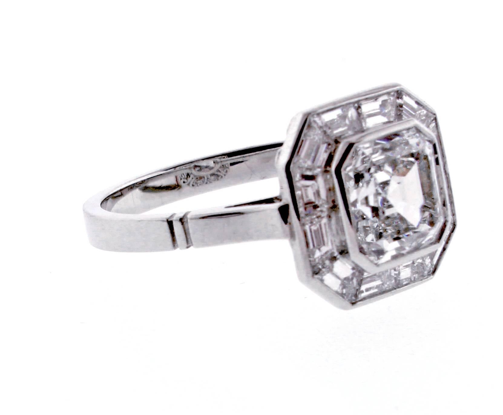 about with general diamond information and cut engagement round baguette the asscher rings ring