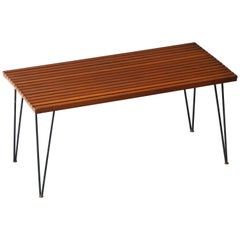 Pipsan Saarinen & J. Robert F. Swanson, Table, Steel, Pine Ficks Reed, 1949