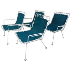 Pipsan Saarinen Swanson Sol Air Set of 4 Outdoor Chairs 1950s Ficks Reed Co.