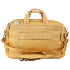 Piquadro Canvas Business Briefcase Work Bag