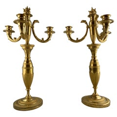 Pair of Russian Candelabra, Empire