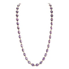 Piranesi Pietra Chain Necklace with Oval Amethyst