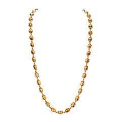 Piranesi Pietra Chain Necklace with Oval Citrine