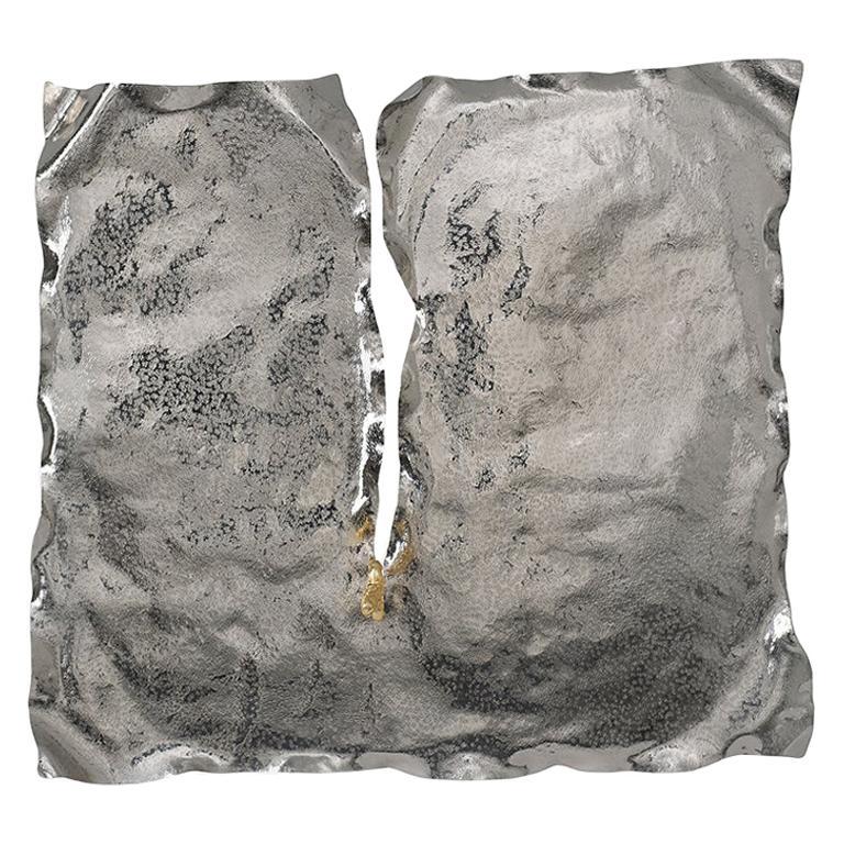 Pirate Wall Accessory, Nickel Brass, Dagger with Precious Stones and Diamonds