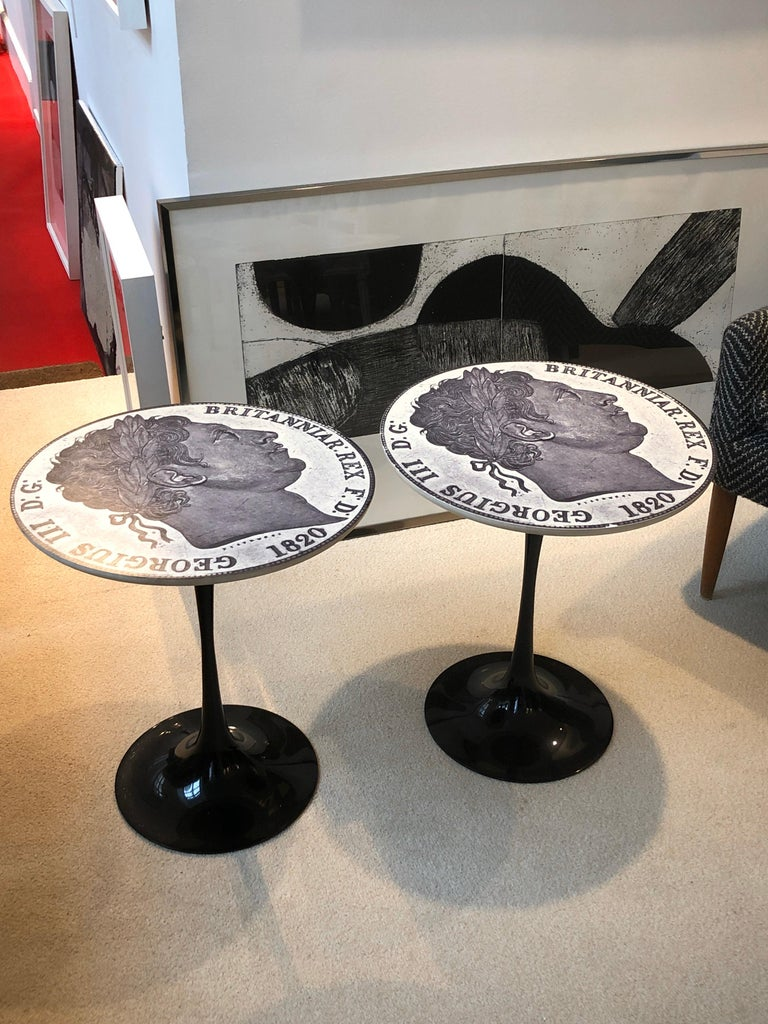 British Pire of Tulip Side Tables by Maurice Burke for Arkana, 1960 For Sale