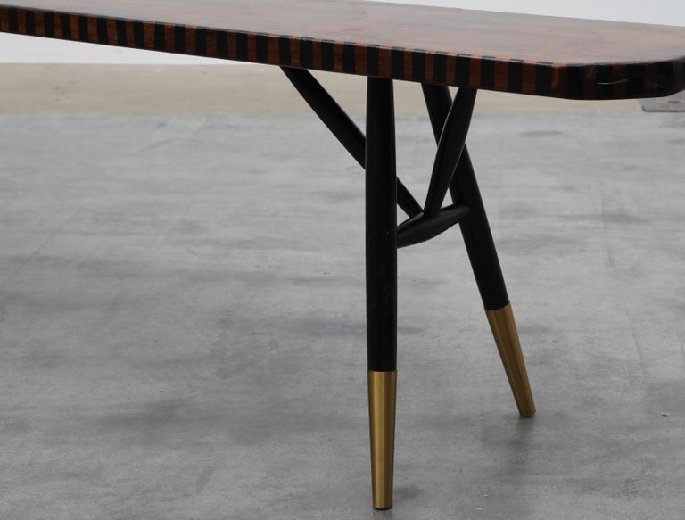 Lacquered Pirkka Bench Contemporized by Atelier Staab Entitled Black Is Beautiful For Sale