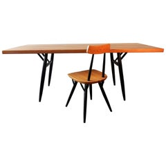 'Pirkka' Dining Table by Ilmari Tapiovaara for Laukaan Puu, Finland, 1950s