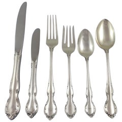 Pirouette by Alvin Sterling Silver Flatware Set Service of 53 Pieces