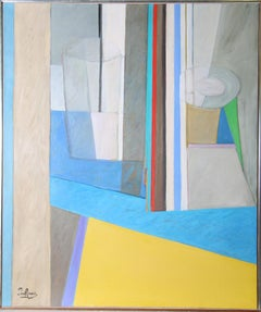 Cubist Interior, Large Painting by Piry Rame