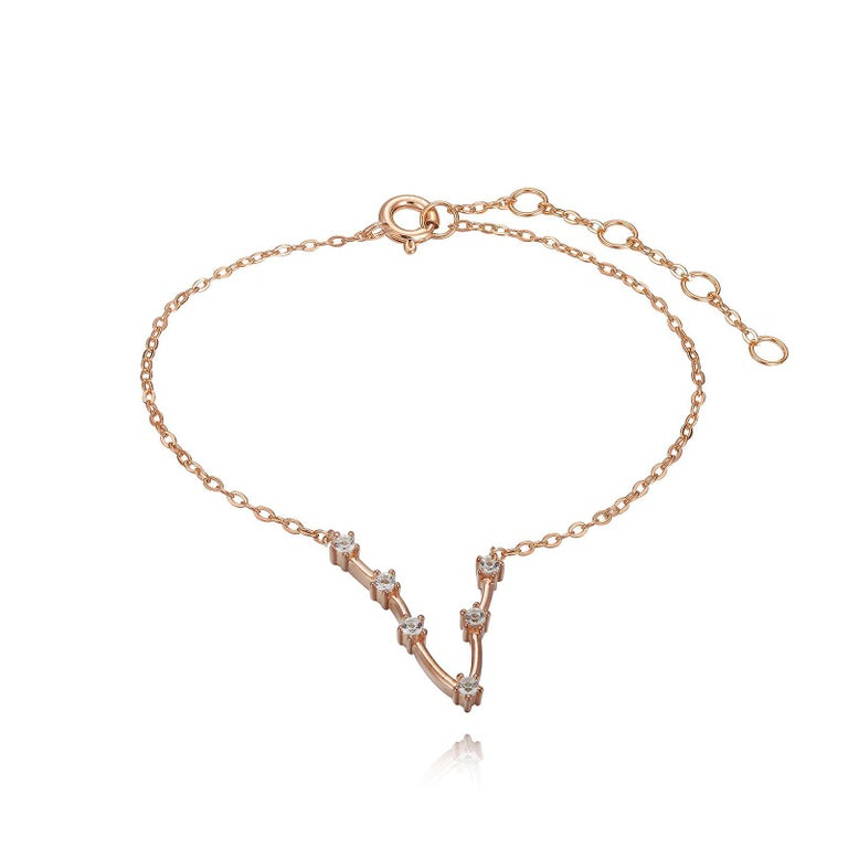 You are unique and your zodiac tells part of your story.  How your zodiac is displayed in the beautiful nighttime sky is what we want you to carry with you always. This pisces constellation bracelet shares a part of your personality with us all