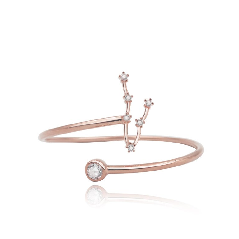 You are unique and your zodiac tells part of your story.  How your zodiac is displayed in the beautiful nighttime sky is what we want you to carry with you always. This pisces constellation wire bezel cuff shares a part of your personality with us
