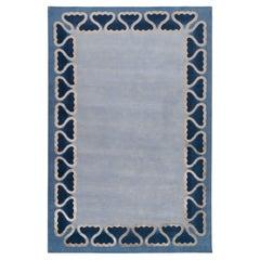 Pisces Hand-knotted 14'x10' Rug in Wool & Silk By Martin Brudnizki