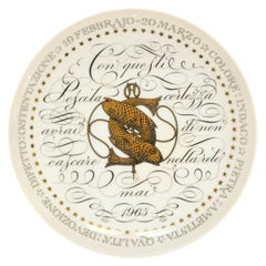 Pisces, Zodiac Plate Series by Piero Fornasetti, 1965