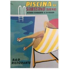 """Piscina Di Sarteano"" Original Vintage Poster"