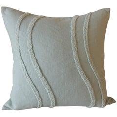 Pistachio Linen Modern Square Decorative Pillow