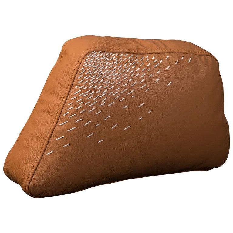 Pita Cushion Medium, Orange Leather For Sale