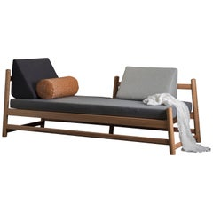 Pita Daybed, Oak Wood and Leather