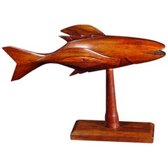 Pitcairn Island Wood Carving of a Flying Fish